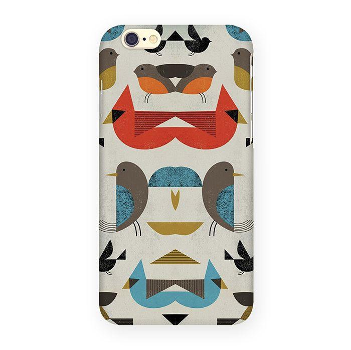 Mitya Veselkov Птички-невелички чехол для Apple iPhone 6/6sIP6.МITYA-014Оденьте свой любимый iPhone! Чехол для Вашего iPhone не просто средство защиты от царапин и внешних повреждений, но и модный аксессуар, который сделает Ваш образ завершенным. Чехол для моделей Apple IPhone 6.