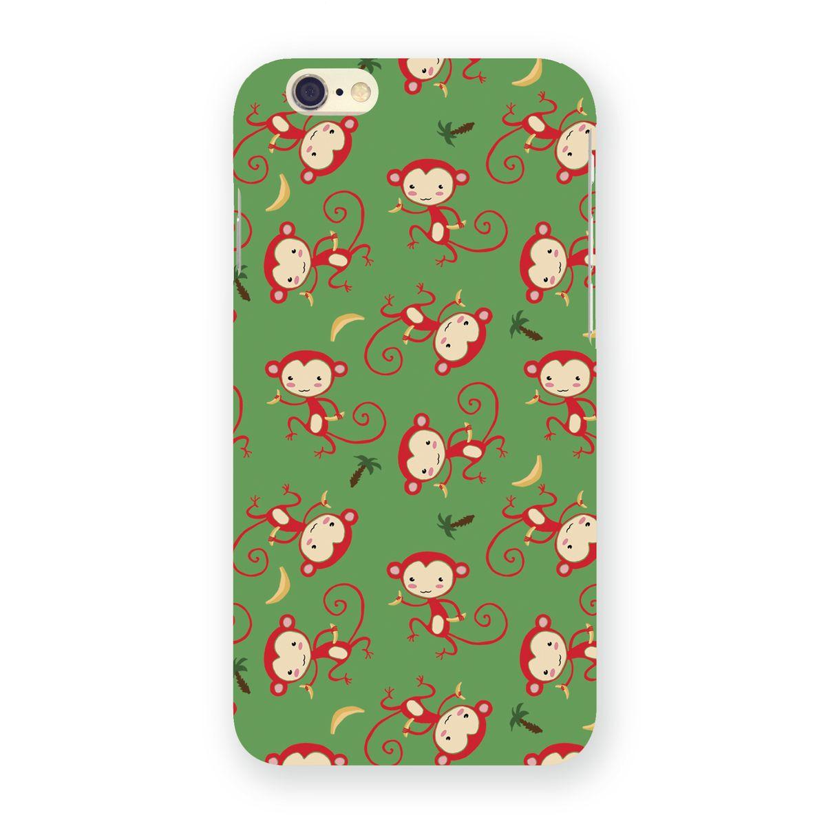 Mitya Veselkov Красные обезьянки на зеленом чехол для Apple iPhone 6/6s