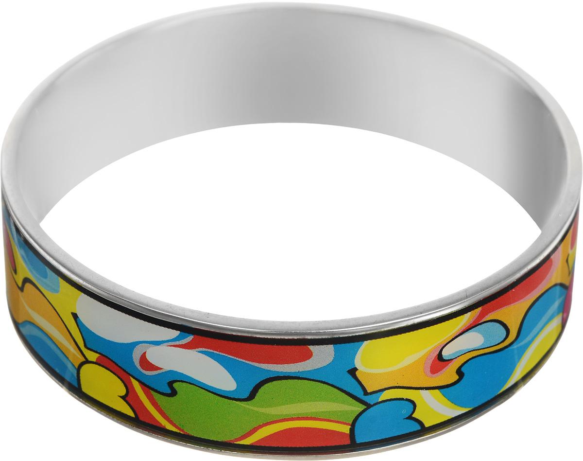 Браслет Art-Silver, цвет: серебряный, мультиколор. ФБб123-1-470ФБб123-1-470Браслет Art-Silver изготовлен из бижутерного сплава. Изделие на лицевой стороне покрыто эмалью с ярким неповторимым орнаментом. Красивое и необычное украшение блестяще подчеркнет изысканный вкус, женственность и красоту своей обладательницы и поможет внести разнообразие в привычный образ.
