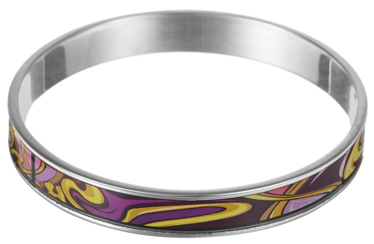 Браслет Art-Silver, цвет: серебристый, мультиколор. ФБм124-1-320ФБм124-1-320Браслет Art-Silver изготовлен из бижутерного сплава. Изделие на лицевой стороне покрыто эмалью с ярким неповторимым орнаментом. Красивое и необычное украшение блестяще подчеркнет изысканный вкус, женственность и красоту своей обладательницы и поможет внести разнообразие в привычный образ.
