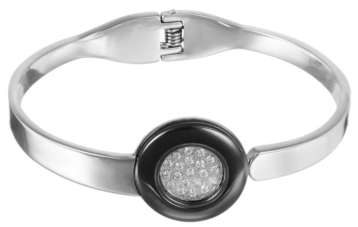 Браслет Art-Silver, цвет: серебристый. КЧ207-1026КЧ207-1026Лаконичный женский браслет выполнен в виде часов из бижутерного сплава с вставками из кубического циркона. Браслет на пружине, благодаря которой браслет легко снимать и надевать. Необычный браслет блестяще подчеркнет ваш изысканный вкус и поможет внести разнообразие в привычный образ.