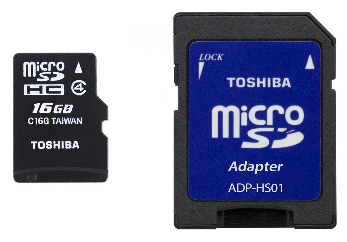 Toshiba microSDHC Class 4 16GB карта памяти