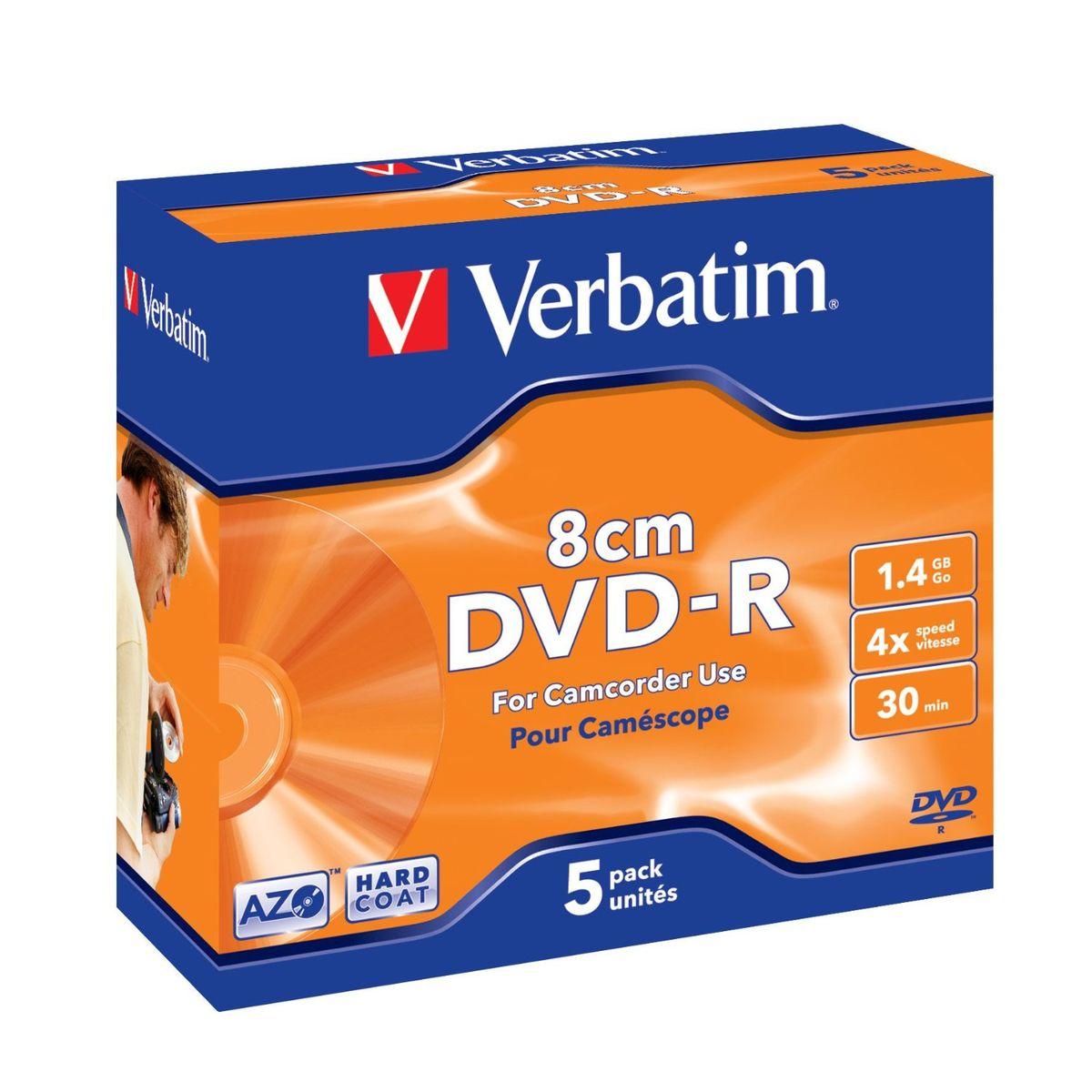 Verbatim DVD-R 1.4Gb 4х лазерный диск, 5 шт
