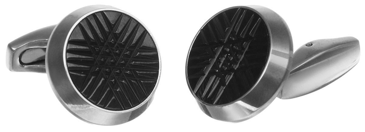 Запонки Art-Silver, цвет: серебристый, черный. К093-613К093-613Стильные запонки Art-Silver, изготовленные из высококачественной стали с эмалиевым покрытием в оригинальном стиле, непременно станут объектом внимания и подчеркнут ваш изысканный вкус. Запонки - символ мужской элегантности. Они являются неотъемлемой частью вечернего туалета. Мужские запонки великолепного дизайна будут отличным подарком для каждого.