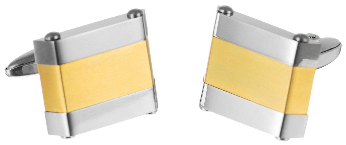 """Запонки """"Art-Silver"""", цвет: серебристый, золотистый. QD380-675"""