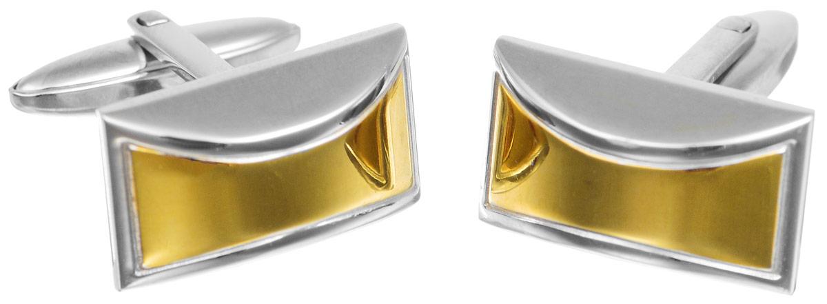 Запонки Art-Silver, цвет: серебристый, золотистый. QD331-675QD331-675Стильные запонки Art-Silver, изготовленные из высококачественной стали в оригинальном стиле, непременно станут объектом внимания и подчеркнут ваш изысканный вкус. Запонки - символ мужской элегантности. Они являются неотъемлемой частью вечернего туалета. Мужские запонки великолепного дизайна будут отличным подарком для каждого.