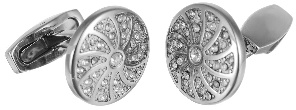 Запонки Art-Silver, цвет: серебристый. К012-653К012-653Стильные запонки Art-Silver, изготовленные из высококачественной стали и украшенные стразами, непременно станут объектом внимания и подчеркнут ваш изысканный вкус. Запонки - символ мужской элегантности. Они являются неотъемлемой частью вечернего туалета. Мужские запонки великолепного дизайна будут отличным подарком для каждого.