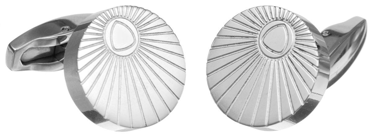 Запонки Art-Silver, цвет: серебристый. К006-502К006-502Стильные запонки Art-Silver, изготовленные из высококачественной стали в оригинальном стиле, непременно станут объектом внимания и подчеркнут ваш изысканный вкус. Запонки - символ мужской элегантности. Они являются неотъемлемой частью вечернего туалета. Мужские запонки великолепного дизайна будут отличным подарком для каждого.