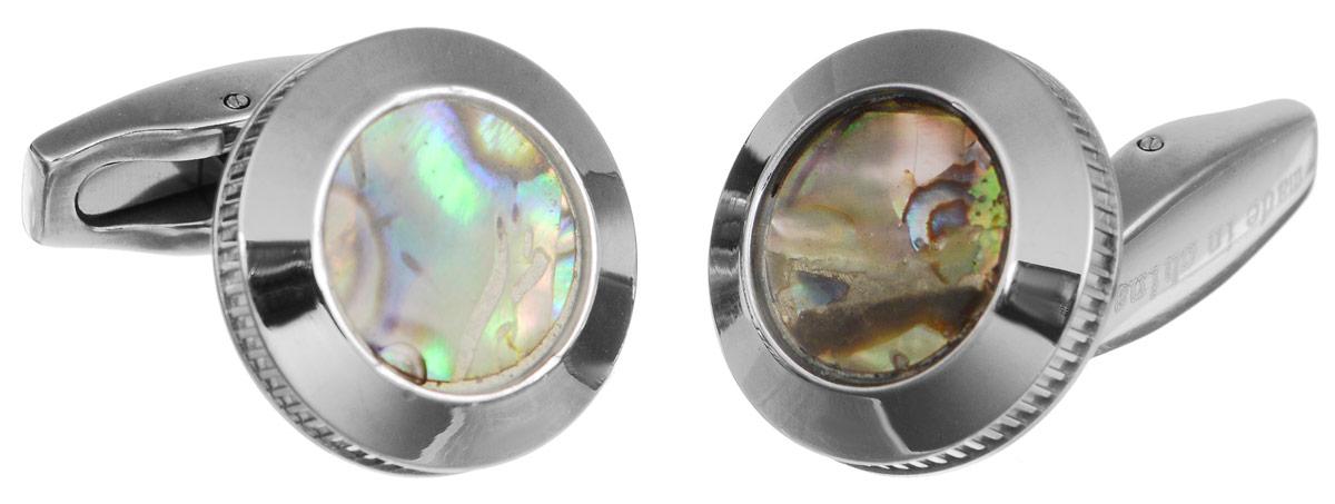 """Запонки """"Art-Silver"""", цвет: серебристый, перламутровый. 92Z-675"""