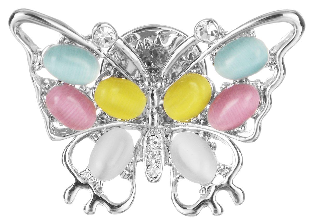 Брошь Art-Silver, цвет: серебристый, голубой, розовый, желтый, белый. 059482-674059482-674Эффектная брошь Art-Silver, выполнена в виде бабочки из бижутерного сплава и оформлена стразами и искусственными камнями. Брошь крепится с помощью иголки с замочком. Такая брошь позволит вам с легкостью воплотить самую смелую фантазию и создать собственный, неповторимый образ.