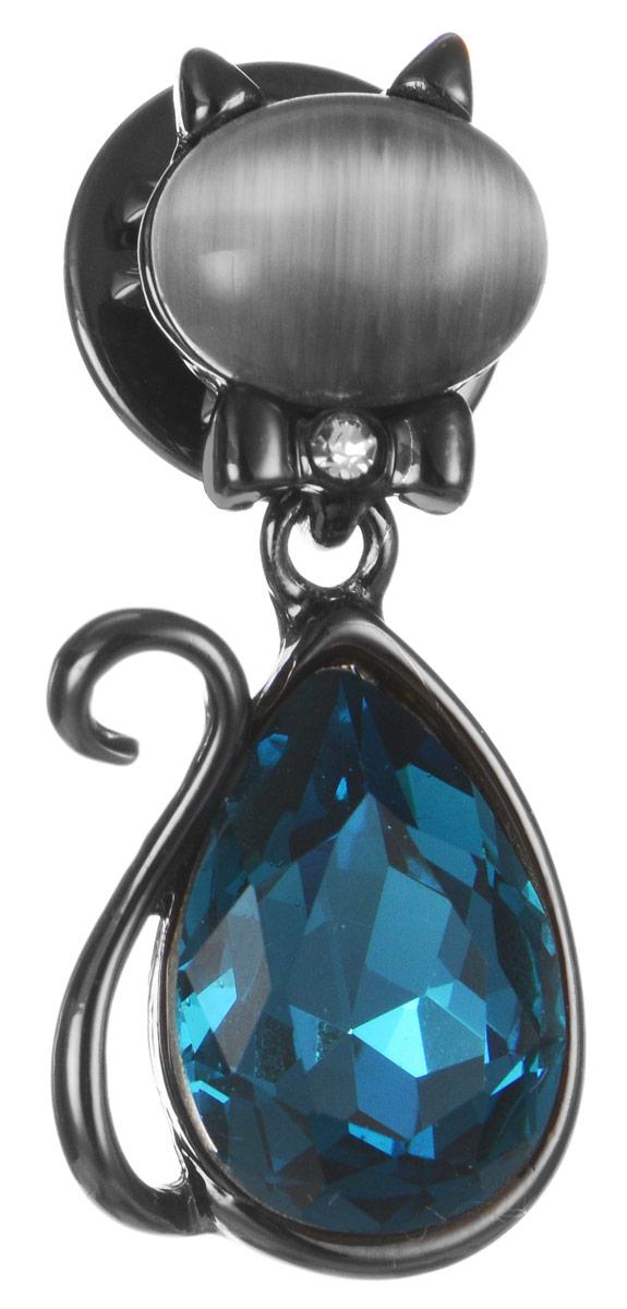 Брошь Art-Silver, цвет: темно-серый, бирюзовый. 011417-004-418011417-004-418Эффектная брошь Art-Silver, выполнена в виде кошки из бижутерного сплава и оформлена камнями и стразинкой. Брошь крепится с помощью иголки с замочком. Такая брошь позволит вам с легкостью воплотить самую смелую фантазию и создать собственный, неповторимый образ.