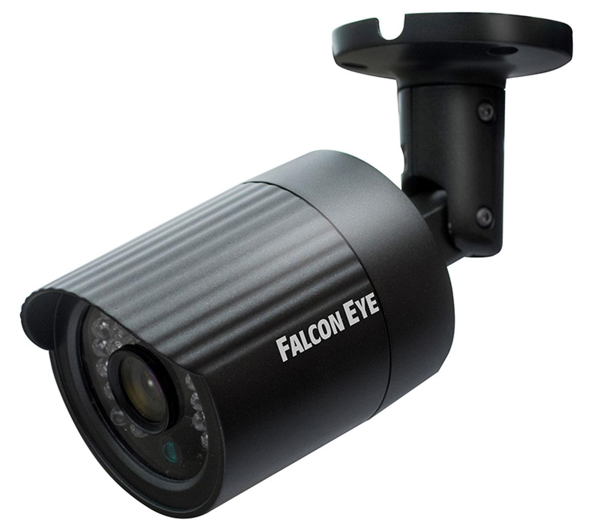 Falcon Eye FE-IPC-BL100P уличная IP-камераFE-IPC-BL100PСетевая уличная видеокамера Falcon Eye FE-IPC-BL100P построена на CMOS матрице OmniVision 1/4, с разрешением 1.3 мегапикселя. На устройстве установлен объектив с фокусным расстоянием 2,8 мм, что при матрице такого размера будет давать угол обзора, сопоставимый с объективом 3,6 мм. Камера выполнена в миниатюрном металлическом корпусе и способна выдавать в сеть видео поток с разрешением 1280х720Р. Возможность работать по Poe является дополнительным бонусом данной модели. Скорость затвора: 1/25 - 1/10000 День/ночь: Auto/B/W/Color/EXT ICR switching Функционал: DWDR, 3D NК Разрешение: 1280 х 720 Видео: Bit rate 1024Kbps-6144Kbps Мобильные платформы: Apple, Android Потребляемая мощность: менее 5 Вт