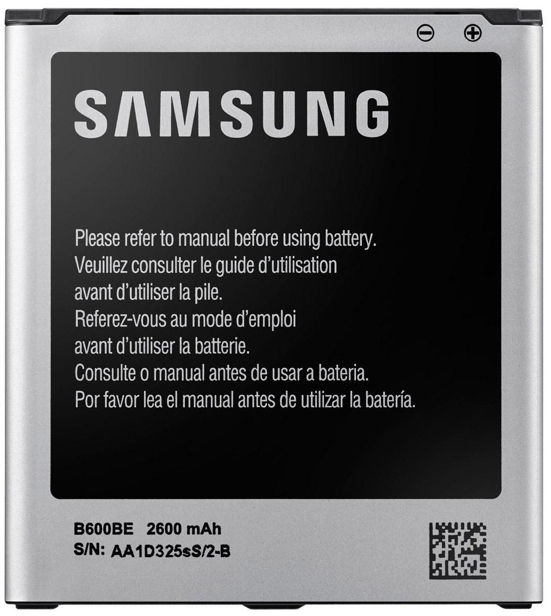 Samsung EB-B600BEBE стандартный аккумулятор для S4EB-B600BEBECRUСтандартный литий-ионный аккумулятор Samsung EB-B600BEBE подарит множество часов телефонного общения. Благодаря компактности устройства всегда можно носить его с собой, чтобы заменять им севший аккумулятор вашего смартфона.