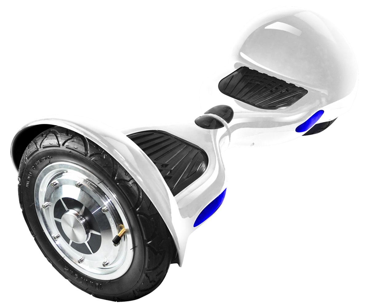 IconBIT Smart Scooter 10, White гироскутерMCI54145_WhiteГироскутер IconBIT Smart Scooter 10 с 10-дюймовыми надувными шинами. Интуитивное и технологически продвинутое индивидуальное транспортное средство, основанное на базовых принципах работы гироскопа. Эта технология точно распознает положения центра тяжести тела человека и четко реагирует на эти изменения. Результатом является движение гироскутера вперед-назад, поворот вправо-влево или старт-стоп. В производстве используются новейшие технологии и процессы, каждый из гироскутеров проходит тестирование на качество и долговечность. Гироскутер IconBIT Smart Scooter 10 имеет два 10 дюймовых колеса со встроенными бесщеточными двигателями, которые питаются от батареи. Для балансировки используются цифровые модули гироскопа и датчики ускорения. Гироскутер может двигаться вперед, назад, поворачивать в любом направлении или вращаться на месте. Компактность и нулевой радиус поворота позволяют использовать его и в закрытом помещении и на открытом воздухе. ...