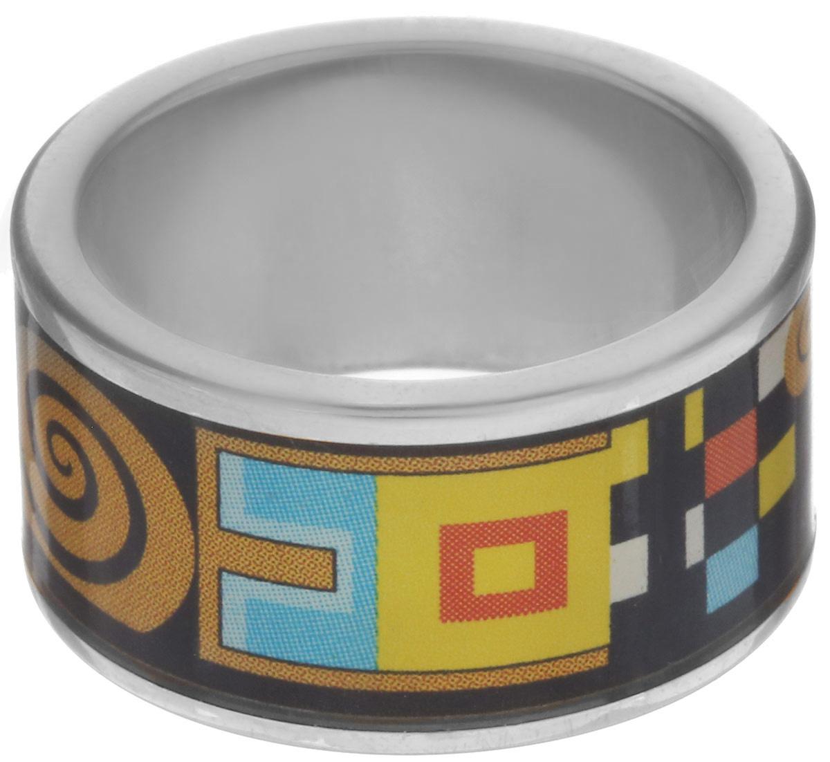 Кольцо Art-Silver, цвет: серебристый, черный, горчичный. ФК110-1-320. Размер 18,5ФК110-1-320Стильное кольцо Art-Silver изготовлено из бижутерного сплава. Изделие оформлено оригинальным принтом и покрыто эмалью. Стильное кольцо придаст вашему образу изюминку и подчеркнет индивидуальность.
