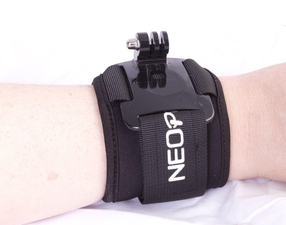 NeoPine NPGWS-2 кистевой ремень с площадкой для экшн-камер GoProNPGWS-2Кистевой ремень для крепления экстрим-камер. Совместим с креплением камер GoPro Hero. Удобное крепление липучка с поворотным криплением.