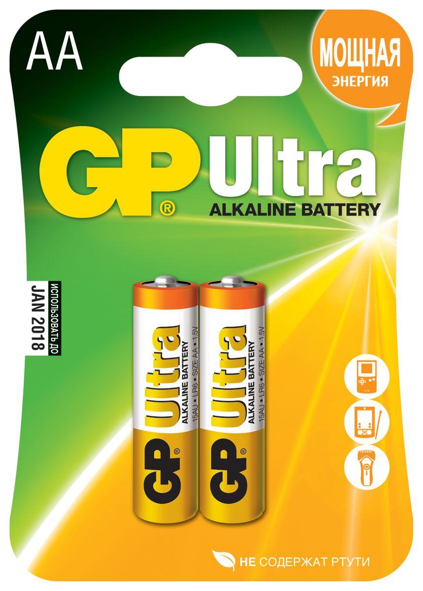 Набор алкалиновых батареек GP Batteries Ultra Alkaline, тип АА, 2 шт10633Батарейки GP Ultra Alkaline специально разработаны для наиболее популярных электронных устройств. Эти элементы питания работают долго и показывают отличный результат во всех устройствах, питающихся от батареек. * Увеличенная продолжительность работы * Представлены во всех популярных типоразмерах * Длительный срок хранения (до 7 лет