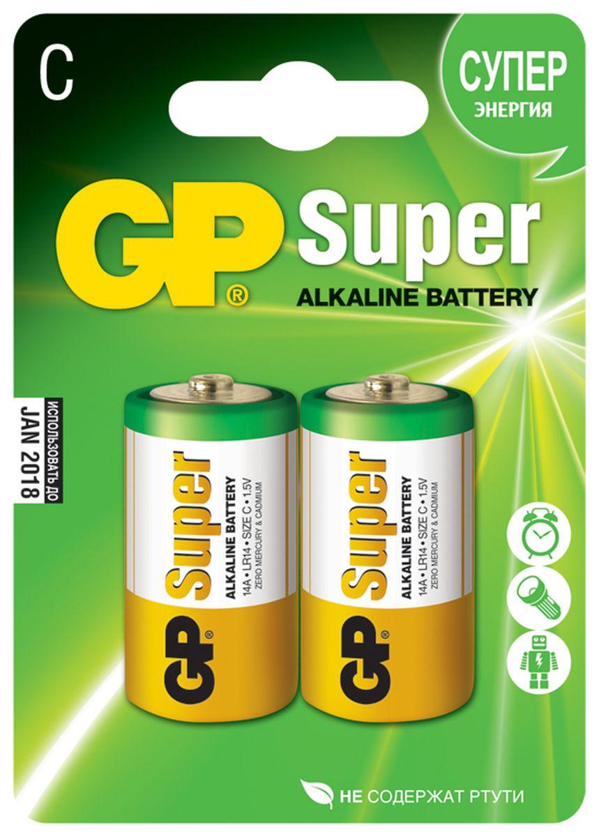 Набор алкалиновых батареек GP Batteries Super Alkaline, тип С, 2 шт2674Батарейки GP Super Alkaline прекрасно подходят для увеличивающейся потребности в источниках питания для устройств повседневного использования. Идеальное соотношение цена/качество. Надежный продукт широкого спектра применения, подходящий для потребителей всех возрастов. * Увеличенная продолжительность работы * Огромный ассортимент типоразмеров * Длительный срок хранения (до 7 лет)