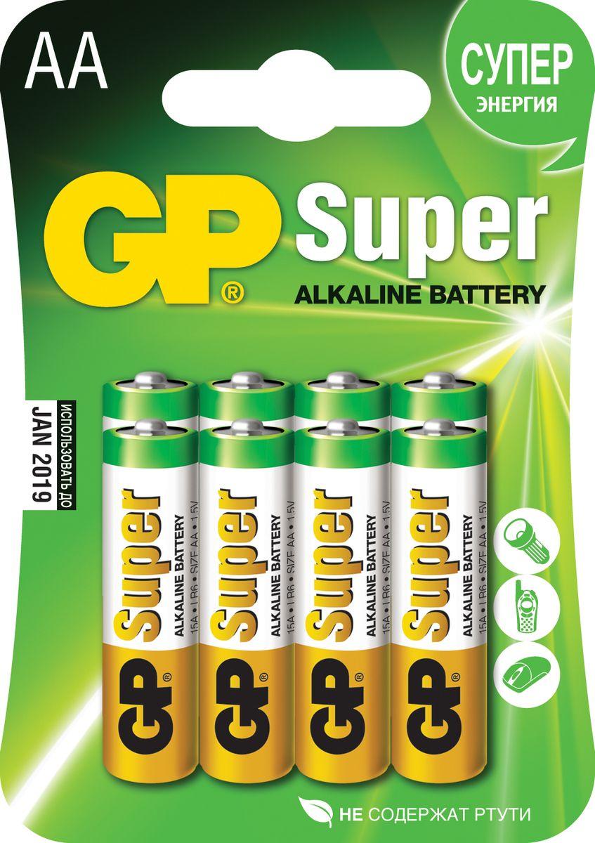 Набор алкалиновых батареек GP Batteries Super Alkaline, тип АА, 8 шт2720Батарейки GP Super Alkaline прекрасно подходят для увеличивающейся потребности в источниках питания для устройств повседневного использования. Идеальное соотношение цена/качество. Надежный продукт широкого спектра применения, подходящий для потребителей всех возрастов. * Увеличенная продолжительность работы * Огромный ассортимент типоразмеров * Длительный срок хранения (до 7 лет)