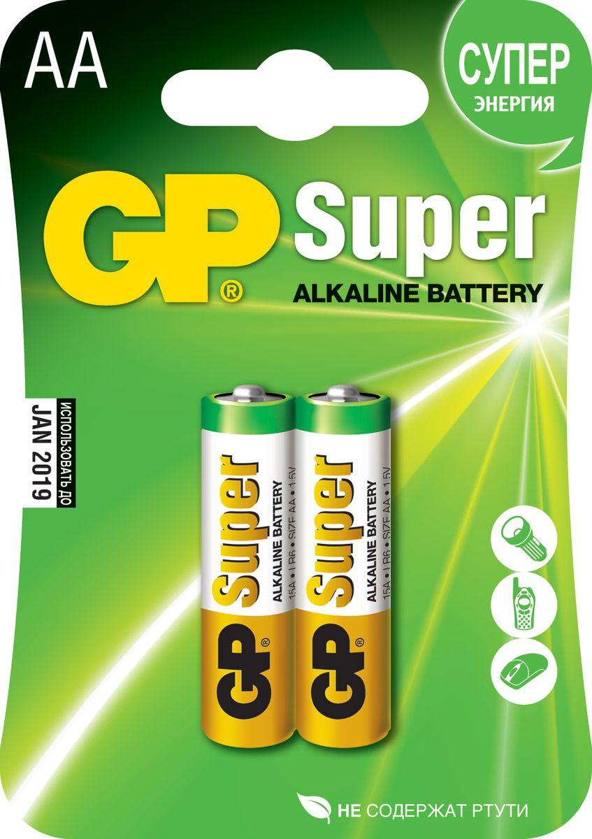 Набор алкалиновых батареек GP Batteries Super Alkaline, тип АА, 2 шт2722Батарейки GP Super Alkaline прекрасно подходят для увеличивающейся потребности в источниках питания для устройств повседневного использования. Идеальное соотношение цена/качество. Надежный продукт широкого спектра применения, подходящий для потребителей всех возрастов. * Увеличенная продолжительность работы * Огромный ассортимент типоразмеров * Длительный срок хранения (до 7 лет)
