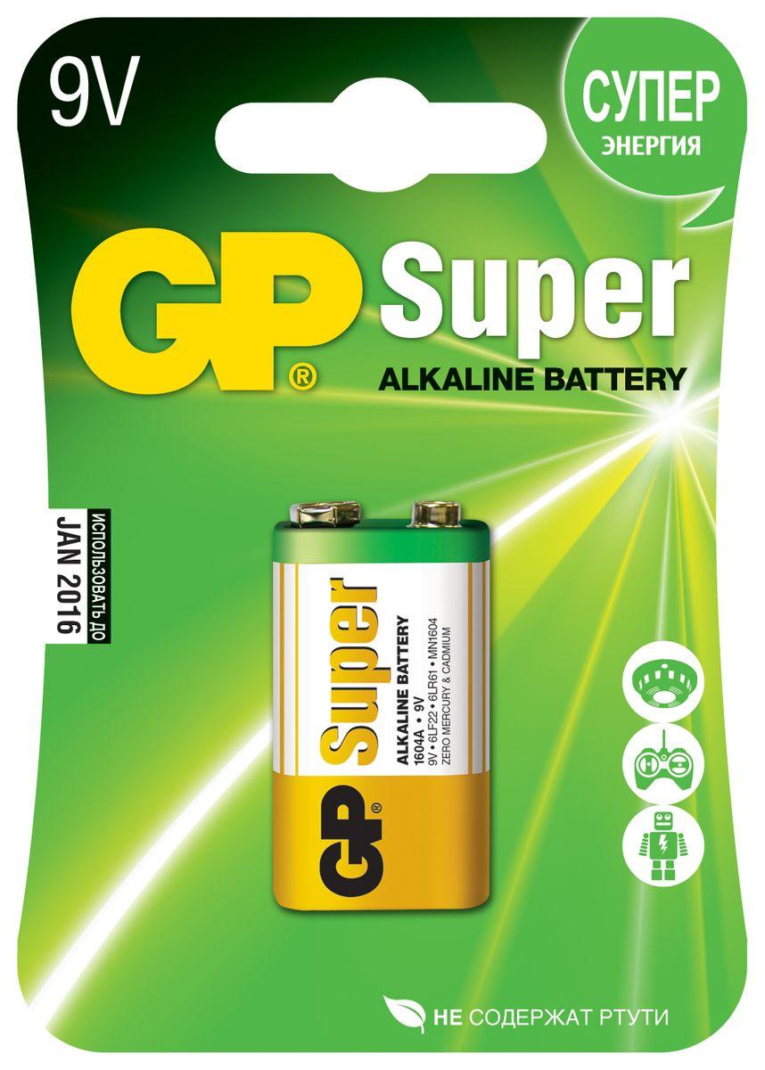 Батарейка алкалиновая GP Batteries Super Alkaline, тип Крона, 9V, 1 шт2786Батарейки GP Super Alkaline прекрасно подходят для увеличивающейся потребности в источниках питания для устройств повседневного использования. Идеальное соотношение цена/качество. Надежный продукт широкого спектра применения, подходящий для потребителей всех возрастов. * Увеличенная продолжительность работы * Огромный ассортимент типоразмеров * Длительный срок хранения (до 7 лет)