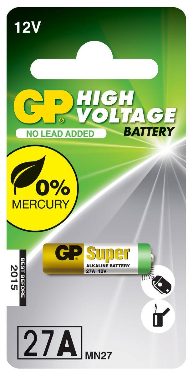 Батарейка высоковольтная GP Batteries, тип 27А, 1шт2981Высоковольтные батареи включают в себя целый ряд элементов питания марганцево-цинковой системы с щелочным электролитом. Все батареи этой системы представляют собой набор элементов дисковой конструктции, собранных в единый металлический корпус. Такие батареи отличаются высоким разрядным напряжением от 6 до 15 В. Улучшенные характеристики батарей позволяют эффективно использовать их в современных цифровых охранных комплексах.