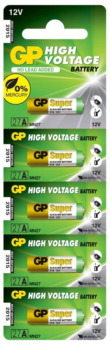 Набор высоковольтных батареек GP Batteries, тип 27А, 5шт2982Высоковольтные батареи включают в себя целый ряд элементов питания марганцево-цинковой системы с щелочным электролитом. Все батареи этой системы представляют собой набор элементов дисковой конструктции, собранных в единый металлический корпус. Такие батареи отличаются высоким разрядным напряжением от 6 до 15 В. Улучшенные характеристики батарей позволяют эффективно использовать их в современных цифровых охранных комплексах.