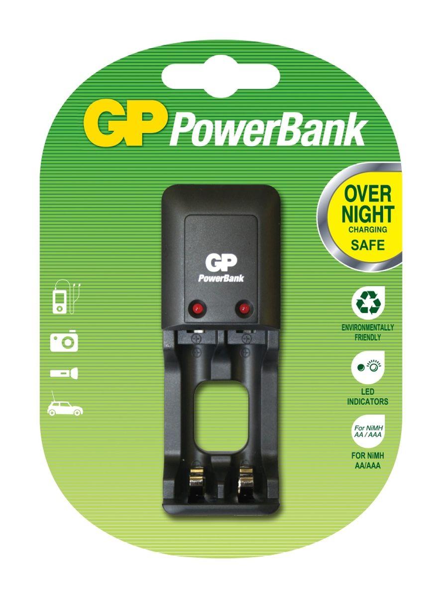 """Зарядное устройство """"GP Batteries"""" для заряда 2-х аккумуляторов типа АА, ААА"""