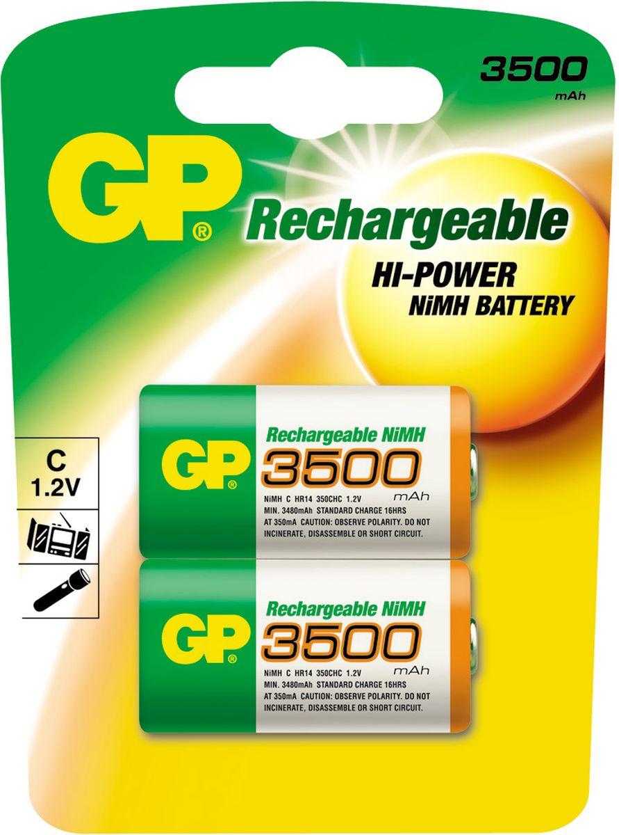 Набор аккумуляторов GP Batteries, NiMh, тип С, 3500 mAh, 2 шт8236Перезаряжаемые аккумуляторы GP используются повсюду и применимы в широком спектре устройств. Все типы таких аккумуляторов сохраняют энергию длительное время и могут быть перезаряжены до 500 раз. Большой ассортимент позволяет найти подходящее решение для любой ситуации. * Энергоемкость выше, чем у алкалиновых элементов питания * Сохраняют заряд, когда не используются * Могут быть перезаряжены до 500 раз * Реальная экономия и забота об окружающей среде