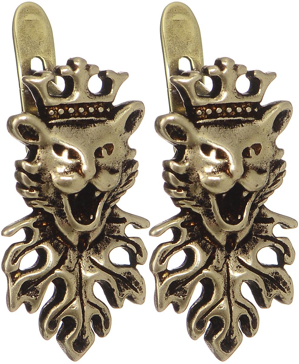 Серьги Jenavi Пассант, цвет: бронзовый. f625w190f625w190Великолепные серьги Jenavi Пассант выполнены из бижутерийного сплава с бронзовым покрытием. Украшение оригинальной формы застегивается на классический английский замок. Такие серьги позволят вам с легкостью воплотить самую смелую фантазию и создать собственный, неповторимый образ.