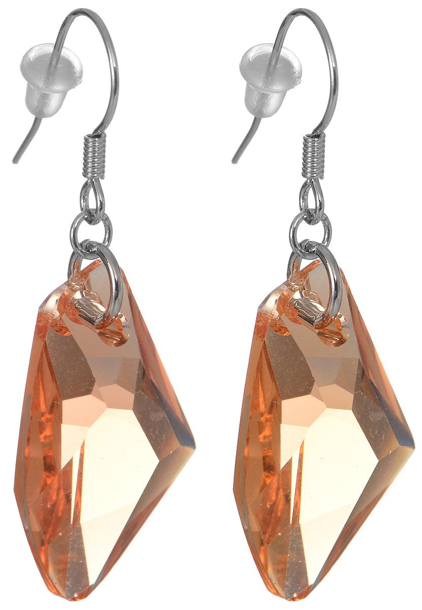 Серьги Fashion House, цвет: абрикосовый, серебристый. FH33015 ( FH33015 )