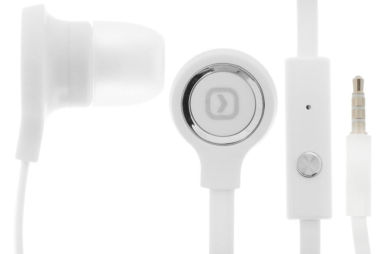 Oxion HS202, White гарнитураOX-HS202WHПроводная стереогарнитура Oxion HS202 со вставными наушниками. Обладает плоским проводом, на котором находится регулятор громкости, кнопка ответа и высокочувствительный микрофон. Легкая и комфортная в применении. Инновационный дизайн и превосходное звучание.