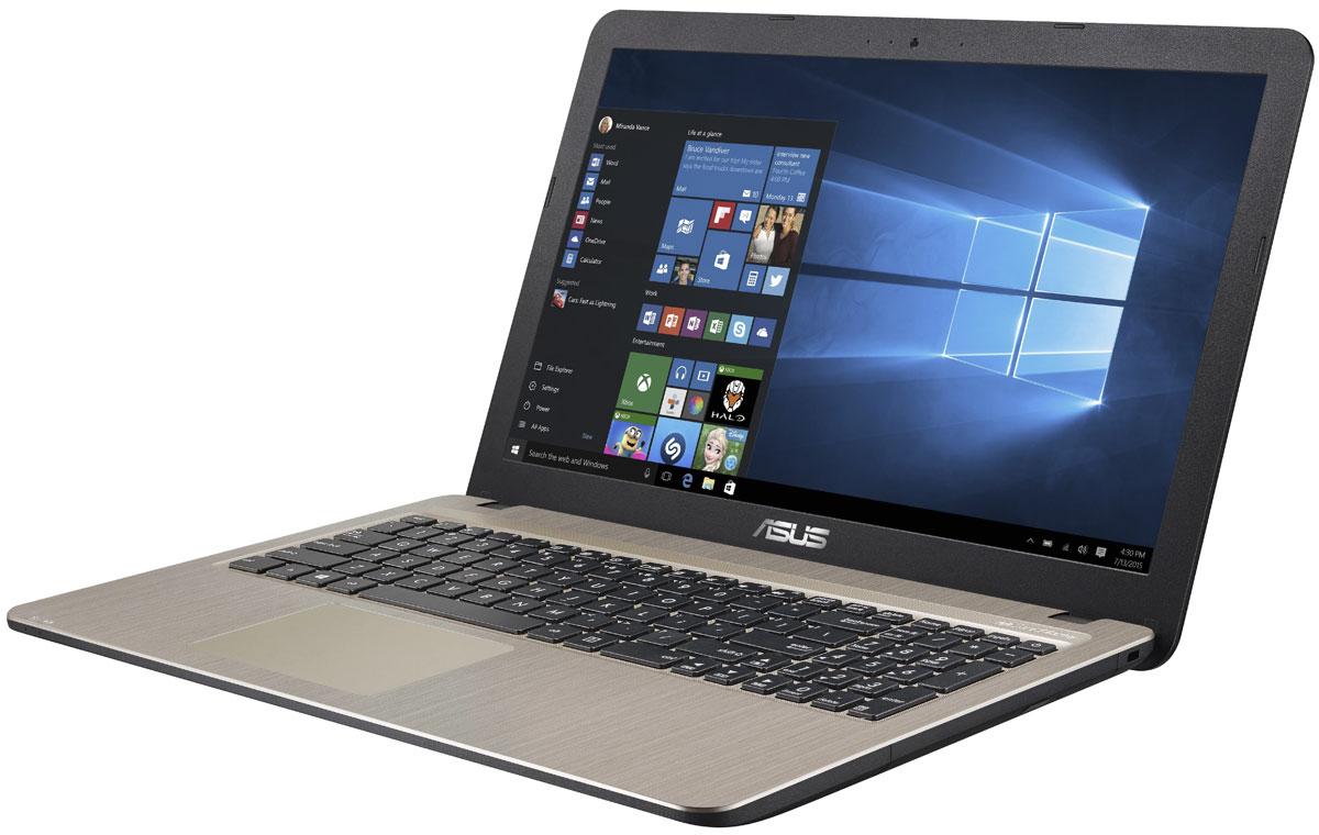 Asus X540SA (X540SA-XX006T)X540SA-XX006TAsus X540SA - это современный стильный ноутбук для ежедневного использования как дома, так и в офисе. Для быстрого обмена данными с периферийными устройствами X540SA предлагает высокоскоростной порт USB 3.1 (5 Гбит/с), выполненный в виде обратимого разъема Type-C. Его дополняют традиционные разъемы USB 2.0 и USB 3.0. В число доступных интерфейсов также входят HDMI и VGA, которые служат для подключения внешних мониторов или телевизоров, и разъем проводной сети RJ-45. Кроме того, у данной модели имеются оптический привод и кард-ридер формата SD/SDHC/SDXC. Благодаря эксклюзивной аудиотехнологии SonicMaster встроенная аудиосистема ноутбука может похвастать мощным басом, широким динамическим диапазоном и точным позиционированием звуков в пространстве. Кроме того, ее звучание можно гибко настроить в зависимости от предпочтений пользователя и окружающей обстановки. Круглые динамики с большими резонансными камерами (19,4 см3) обеспечивают...