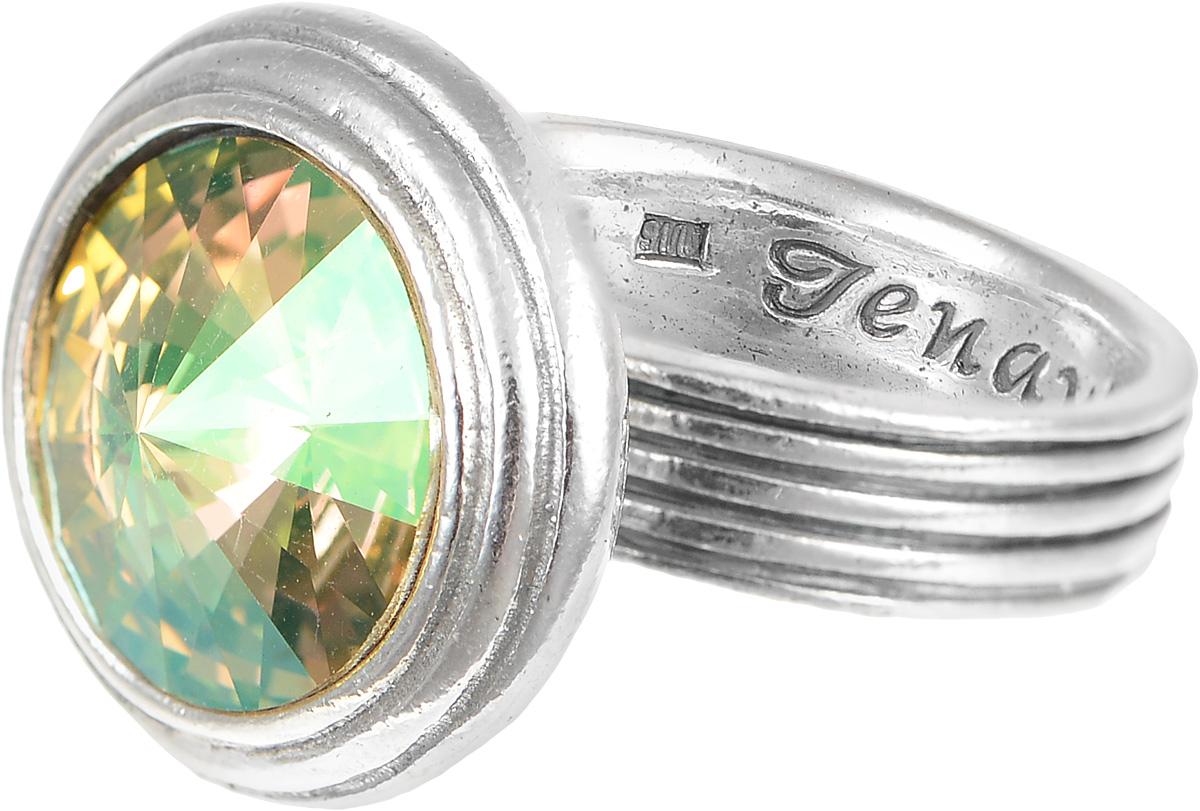 Кольцо Jenavi Эмбаси, цвет: серебряный, желтый. j1713020. Размер 16j1713020Стильное кольцо Jenavi Эмбаси выполнено из гипоаллергенного ювелирного сплава и оформлено кристаллом Swarovski. Стильное кольцо придаст вашему образу изюминку, подчеркнет индивидуальность.
