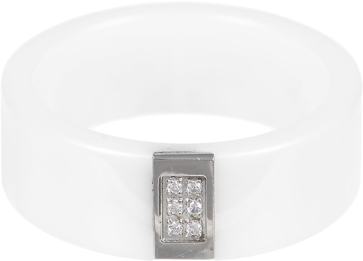 Кольцо Art-Silver, цвет: белый. КБ1102-674. Размер 18,5КБ1102-674Стильное кольцо Art-Silver изготовлено из керамики. Изделие оформлено цирконами. Стильное кольцо придаст вашему образу изюминку и подчеркнет индивидуальность.