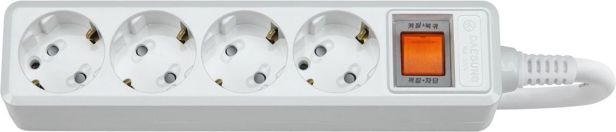 Сетевой фильтр Daesung, 4 гнезда, 1,5 м. MC2042MC2042Главный выключатель розеток (энергосбережение до 11%). Защита от импульсных скачков напряжения в сети Защитные шторки Отверстия для крепления на стену Корпус из поликарбоната (более ударопрочный, огнестойкий и экологичный материал) Антистатичная глянцевая поверхность (не маркий,не скапливается и легко удаляется пыль/грязь) Гибкий, мягкий кабель из чистой меди (тестируется на 10 000 изгибов) Направляющие канавки розеток (повышеный уровень комфортности при включении) контакты заземления из высококачественного сплава меди. 5 лет гарантии(не ремонтируется), при поломке высылаете его Производителю (Представителю) и получаете взамен новый. Расходы по доставке производитель (Представитель) берёт на себя. При утере чека и гарантийного талона, датой отчета гарантийного срока является дата производства, которая указана на обратной стороне удлинителя/сетевого фильтра.