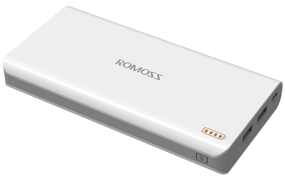 Romoss Solo 6, White внешний аккумулятор00000009013Портативное зарядное устройство Romoss Sailing 4 имеет емкость 10 400 мАч и ориентировано в первую очередь на тех, кто постоянно пользуется мобильными устройствами и ведет активный образ жизни. С его помощью можно в любой момент быстро зарядить смартфон, планшет, электронную книгу, причем во время подзарядки владелец может пользоваться всеми функциями своего аппарата. Romoss Sailing 4 оснащен интеллектуальной многоступенчатой защитой, делающей его максимально надежным и безопасным, а также значительно продляющей срок его службы. Через два разъема microUSB можно одновременно заряжать два устройства: это отличный способ помочь себе и в то же время выручить друга.