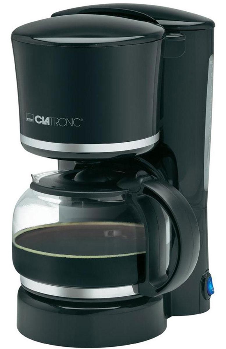 Clatronic KA 3555, Black Silver кофеваркаKA 3555 schwarz-silberС помощью капельной кофеварки Clatronic KA 3555 вы сможете приготовить вкусный натуральный кофе. Кофеварка рассчитана на приготовление 8-10 чашек кофе (около 1,25 литра). Световой индикатор позволят отследить работу прибора. Подогреваемая подставка для колбы с автоматическим отключением.