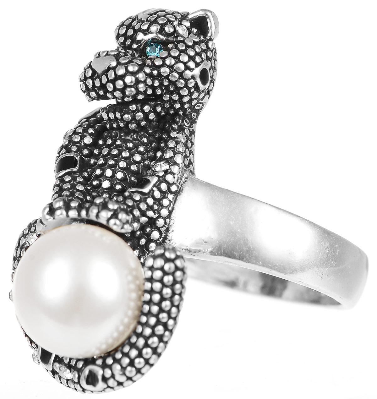 Кольцо Art-Silver, цвет: серебристый. 066700-950. Размер 17,5066700-950Стильное кольцо Art-Silver изготовлено из бижутерного сплава. Декоративный элемент кольца, выполненный в виде леопарда, дополнен искусственным жемчугом Майорика и цирконами. Стильное кольцо придаст вашему образу изюминку и подчеркнет индивидуальность.