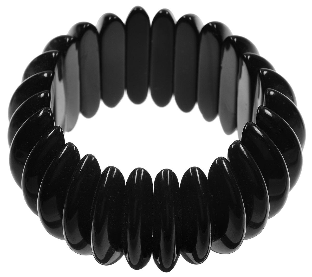 Браслет Art-Silver, цвет: черный. Bb37-756Bb37-756_черныйИзящный женский браслет Art-Silver выполнен из агата. Эластичная прочная резинка, использованная в качестве основы изделия, позволит идеально зафиксировать браслет на руке. Это стильное украшение элегантно завершит модный образ и подчеркнет ваш изысканный вкус.