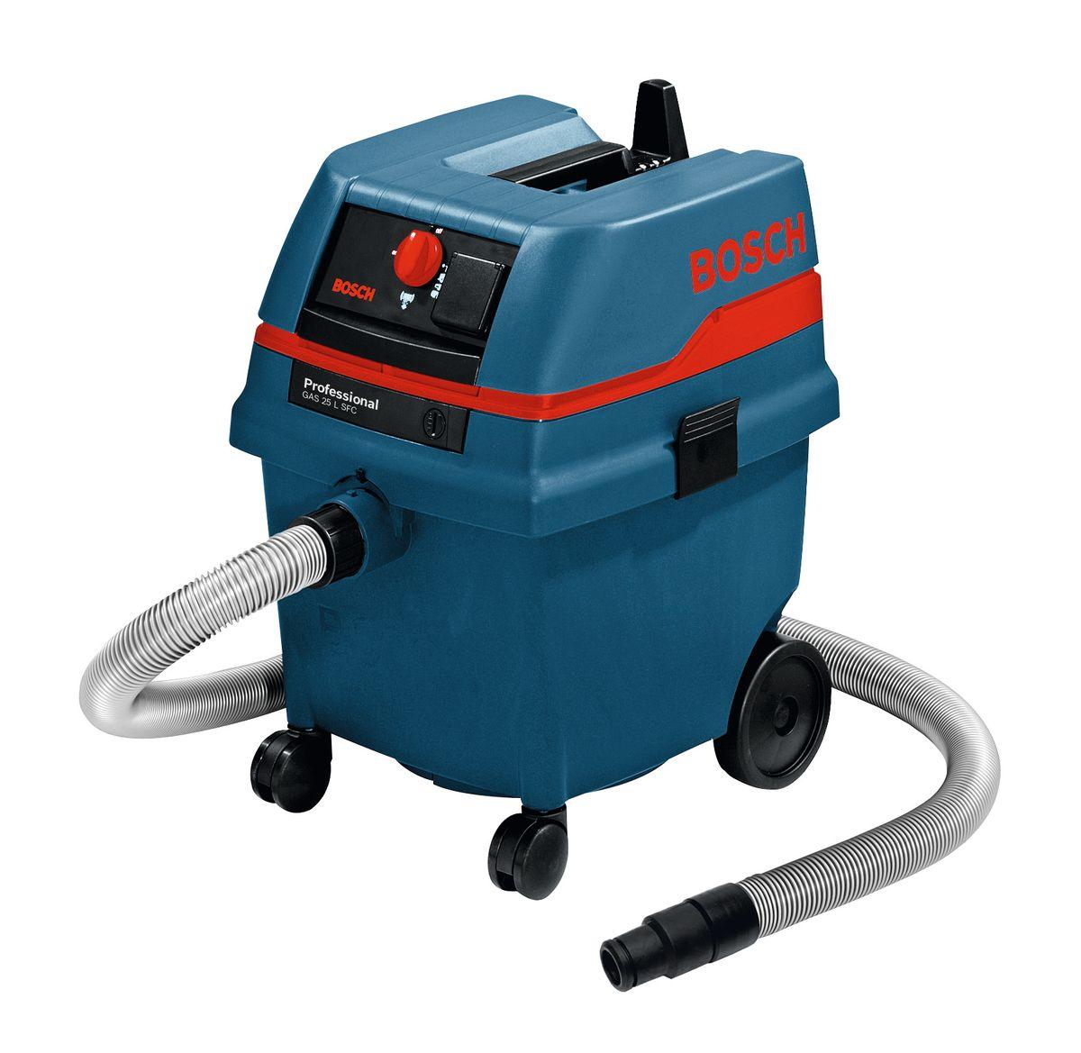 Пылесос Bosch GAS L SFC. 060197910398297065В комплект GAS 25 L SFC входит: Щелевая насадка 250 мм 2607000165 Насадка для крупного мусора 2607000170 Фильтр из полиэстера 2607432015 Ручка регулирования воздуха 2607000164 Бумажный мешок 2605411167 Шланг, 3 м, O 35 мм 2609390392 Универсальная насадка 1609390478 2 всасывающие трубки 0,5 м, O 35 мм, 2607000162