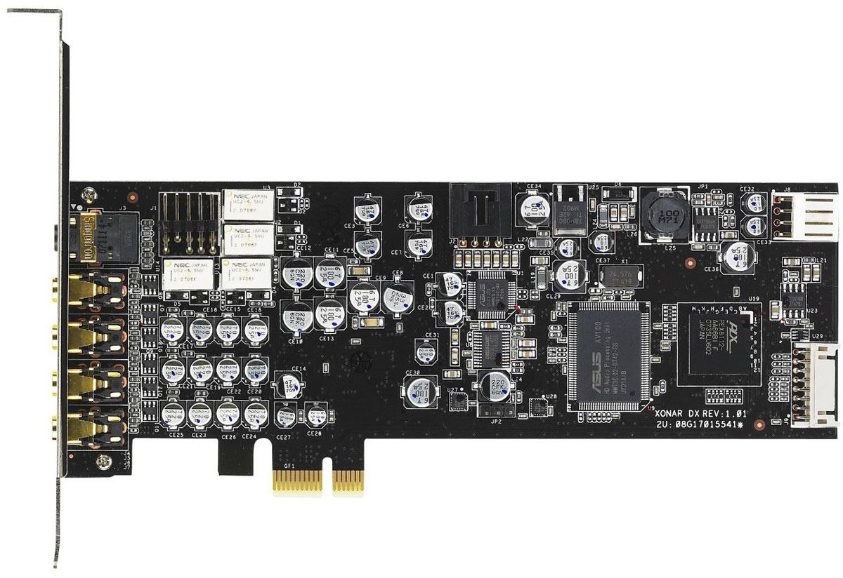 ASUS Xonar DX звуковая картаXONAR DXAsus Xonar DX - звуковая карта с поддержкой технологий Dolby Home Theater. Технология VocalFX для общения в игре Поддержка полного набора технология Dolby Home Theater Обработчик игровых аудиоэффектов DS3D GX 2.0 Чистота звучания (соотношение сигнал/шум на уровне 116 дБ) значительно выше, чем у аудиокодеков, интегрированных в материнские платы (порядка 85 дБ) Поддержка полного набора технология Dolby Home Theater Звуковая карта Xonar DX унаследовала у своих предшественниц, моделей D2 и D2X, полный комплект технологий Dolby Home Theater, в который входят: Dolby Digital Live: Декодирование звука в формате Dolby Digital 5.1 в режиме реального времени Dolby Pro-Logic IIx: Преобразование звука в формате стерео или 5.1 в формат 7.1 Dolby Headphone: Реалистичное, пространственное звучание формата 5.1 при воспроизведении звука через стереофонические наушники Dolby Virtual Speaker: Создание реалистичного...