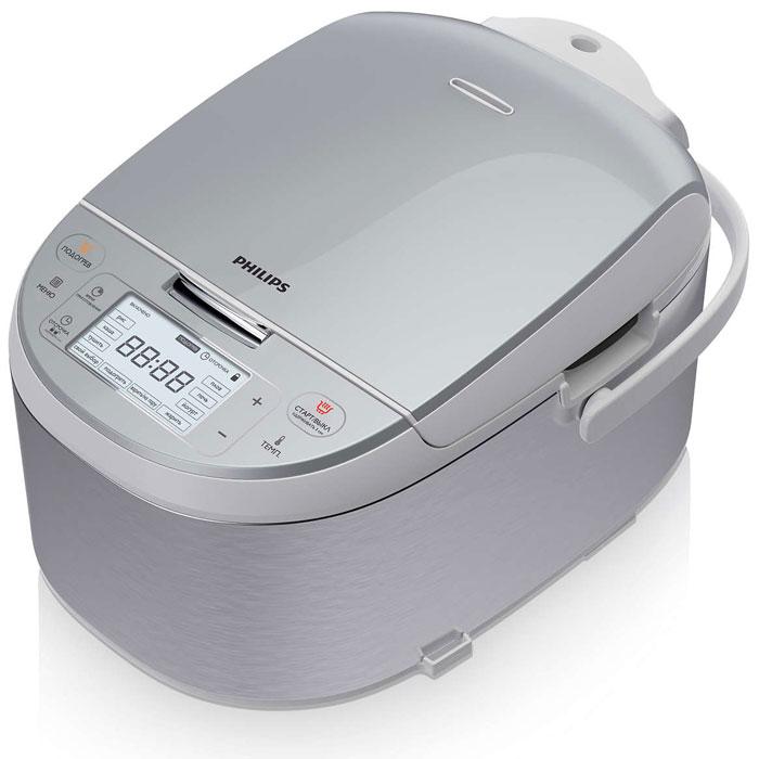 Philips HD3095/03 мультиваркаHD3095/03Мультиварка премиум-класса оснащена 10 автоматическими режимами и программами с возможностью регулировки температуры, с помощью которых вы сможете легко приготовить разнообразные блюда. Специальная толстостенная внутренняя чаша с нано-керамическим покрытием придаст вашим блюдам незабываемый вкус, словно они приготовлены в русской печи. 10 автоматических программ: 10 автоматических программ с оптимальными настройками температуры и нагрева для отличных результатов. Благодаря особой компьютерной программе блюда приобретают такой вкус, словно вы приготовили их на настоящей русской печи. Специальная программа с 13 установками температуры от 40°C до 160°C на выбор. Таймер отсрочки старта до 24 часов: Функция поддержания тепла обеспечивает свежесть блюд в течение 24 часов. Специальная кнопка позволяет без труда подогреть остывшие блюда. Ультратолстая 6 мм чаша: Ультратолстая 6 мм чаша позволяет распределять тепло таким...