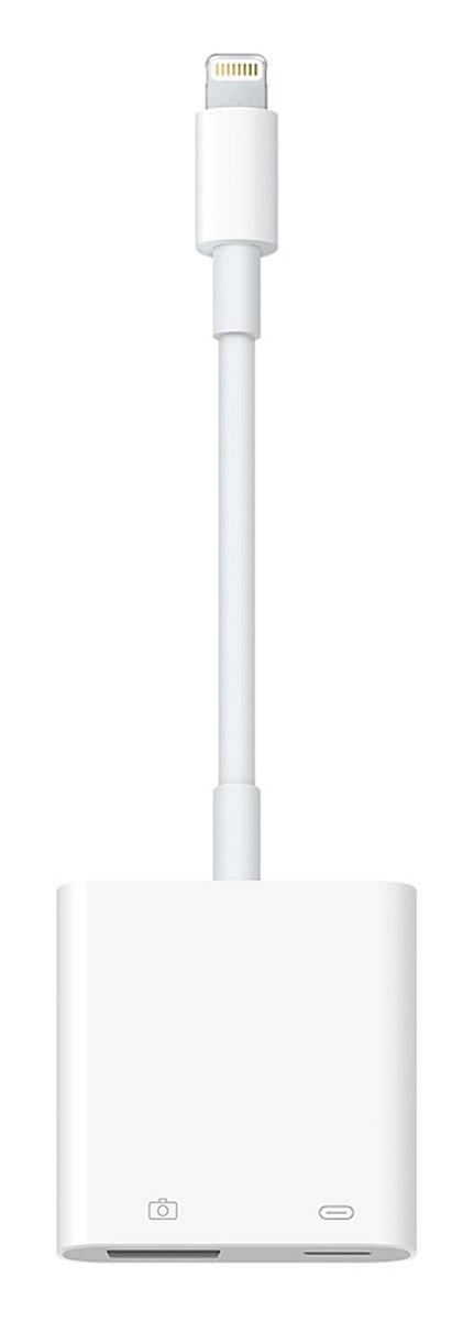 Apple Lightning/USB 3 USB-адаптер для подключения камерыMK0W2ZM/AС адаптером Lightning/USB 3 для подключения камеры можно легко переносить фотографии и видео с цифровой камеры высокого разрешения на iPad Pro. Подсоедините адаптер Lightning/USB 3 для подключения камеры, и iPad Pro автоматически откроет приложение Фото, в котором можно выбрать фотографии и видеозаписи для импорта, а затем организовать их в альбомы. Сделайте свой iPad Pro ещё более универсальным и удобным, подключив адаптер Lightning/USB для камеры к адаптеру питания USB. Вы сможете подключать различные периферийные устройства USB: концентраторы, Ethernet-адаптеры, интерфейсы аудио/MIDI и устройства чтения для карт CompactFlash, SD, microSD и других форматов. Адаптер Lightning/USB 3 для подключения камеры поддерживает стандартные форматы изображений, в том числе JPEG и RAW, а также форматы SD- и HD-видео, включая H.264 и MPEG-4. iPad Pro с дисплеем 12,9 дюйма поддерживает передачу данных со скоростью USB 3.0, а iPad Pro с дисплеем 9,7 дюйма — со...