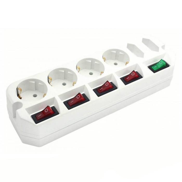 Сетевой удлинитель Most A10 (6 розеток), WhiteA10-Б 3Удлинитель Most А10 предназначен для подключения бытовой техники к сети электропитания. У каждой из четырех евророзеток имеется мощный (16A) индивидуальный выключатель,который обеспечивает удобство обращения с электропитанием и экономит Ваше время. Две узкие розетки имеют общий выключатель. Удлинитель Most A10 обеспечивает удобную эксплуатацию и подключение техники мощностью до 2.2кВт к розетке.