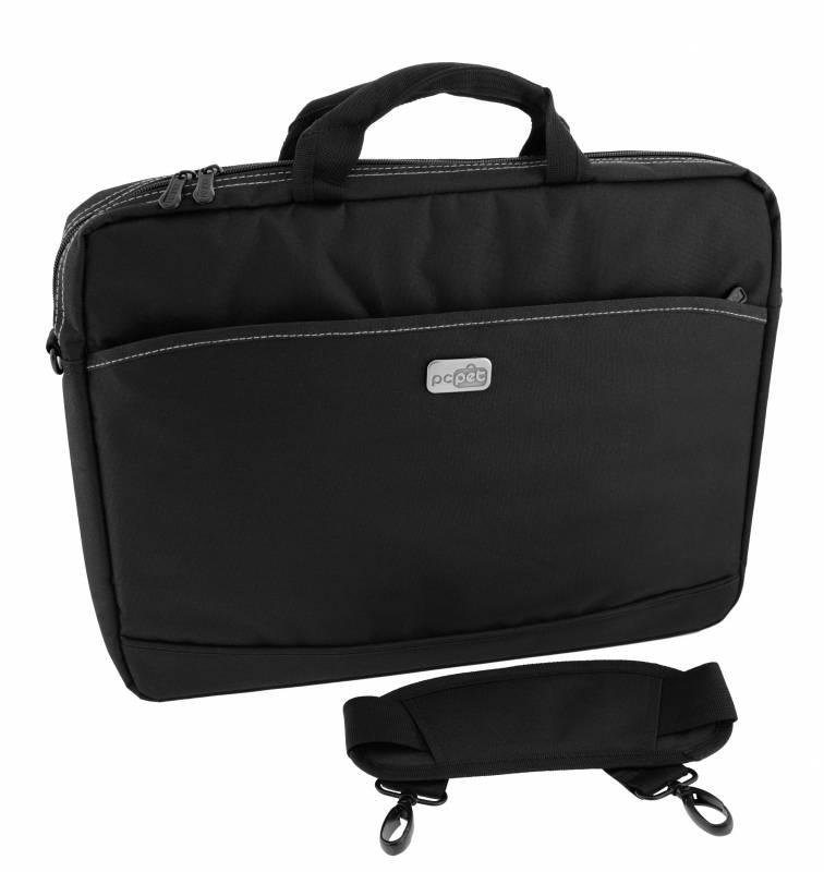 Сумка для ноутбука 17 PC Pet 600D, Black (PCP-A1317BK)PCP-A1317BKТонкая и легкая сумка для ноутбуков с диагональю экрана до 17,3 дюйма. Основное отделение и карман для принадлежностей застегиваются на молнию. Внутри сумка обшита мягким материалом, который препятствует появлению царапин.