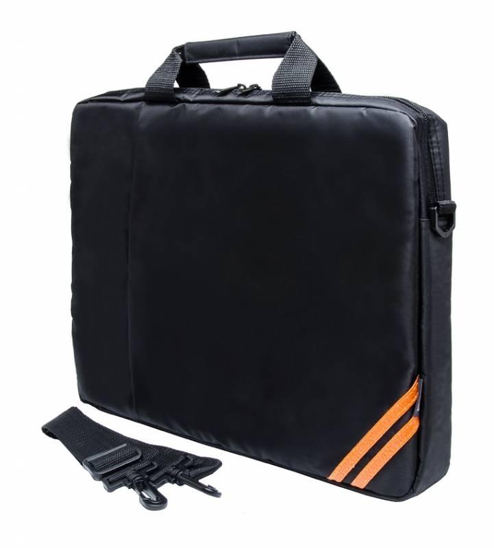 Сумка для ноутбука 15.6 PC Pet PCP-1004BK, BlackPCP-1004BKПростая, тонкая сумка для ноутбуков с экраном диагональю 15,6 дюйма, выполненная из прочного и износостойкого нейлона. Внутри сумка обшита мягким материалом, который препятствует появлению царапин. Передний карман закрывается на молнию.