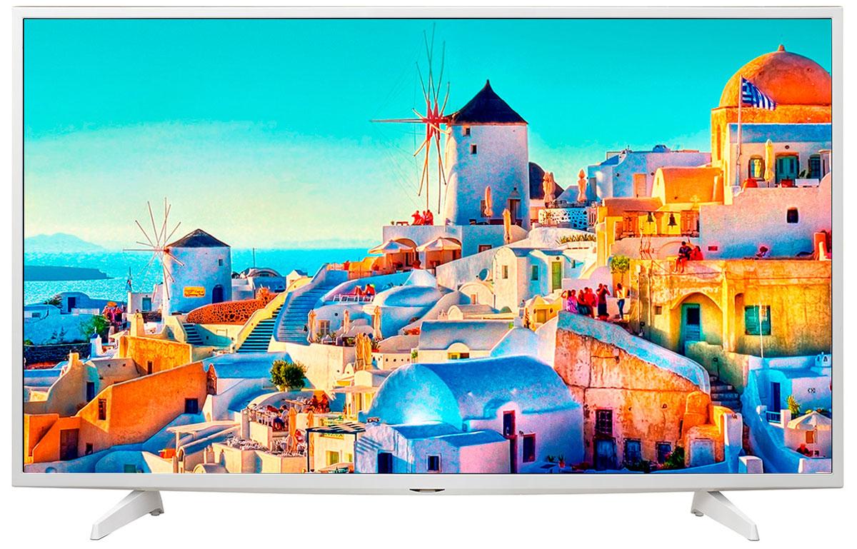 LG 49UH619V телевизор49UH619VСовременный телевизор LG 49UH619V для всей семьи. HDR Pro: Функция HDR Pro позволяет увидеть фильмы с теми яркостью, богатейшей палитрой и точностью цветовых оттенков, с какими они были сняты. Трёхмерная обработка цвета: В новых UHD телевизорах LG используется трёхмерный алгоритм обработки цвета, что позволяет минимизировать искажения и добиться оттенков, максимально приближенных к натуральным. Энергосбережение: Эта функция включает в себя контроль подсветки, который позволяет регулировать яркость экрана в целях экономии электроэнергии. Металлический дизайн: Оцените обновлённый дизайн корпуса телевизора с металлическими элементами. ULTRA Surround: Специальный алгоритм преобразовывает звуковые волны, исходящие из двухканальных динамиков так, что вам будет казаться, что вы слушаете 7-канальный звук. Получите ещё больше удовольствия от просмотра 4К фильмов! webOS 3.0: ...