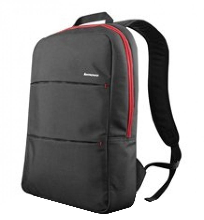 Рюкзак для ноутбука 15.6 Lenovo Simple, Black (888016261)888016261Рюкзак Lenovo Simple Backpack подойдет для тех, кто ценит качество и простоту. Отсутствие излишних деталей и дополнительных, не всегда нужных, функций производитель компенсировал максимальным качеством исполнения. Карманы Lenovo Simple Backpack прочно прошиты и снабжены необходимыми органайзерами. Карман для ноутбука оснащен защитными стенками и фиксаторами. Прочная застежка-молния для максимального удобства открывает большую часть клапана рюкзака. Широкие эргономичные лямки и усиленная спинка рюкзака не будут напрягать спину владельца. Регулируемые ремни позволяют подобрать оптимальную длину лямок. Рюкзак сшит из плотного полиэстера черного цвета, с которым контрастируют элементы отделки и молния ярко-красного цвета.