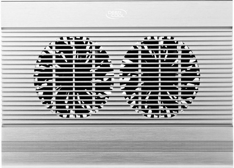 Подставка для ноутбука Deepcool N8, Silver AluminumN8Превосходный дизайн воздухозаборного отверстия создает оптимальный для охлаждения ноутбука воздушный поток. Алюминиевая панель эффективно рассеивает тепло.